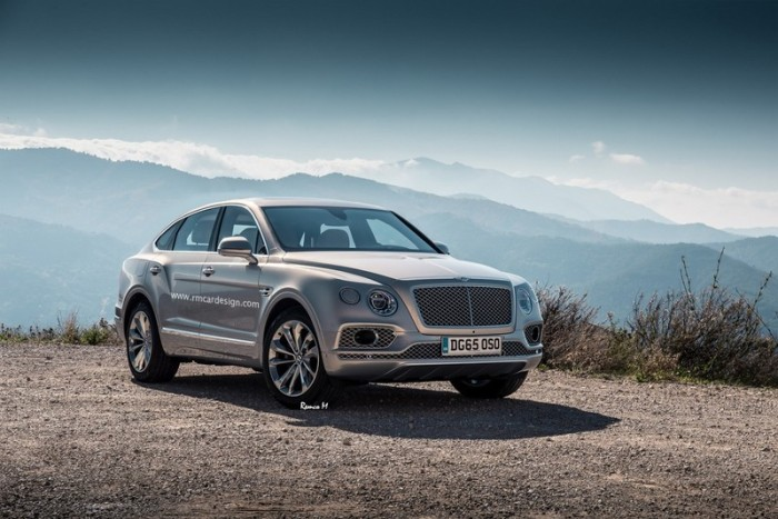 Bentley Bentayga Coupé concept car prototipo render frontal tublogdecoches